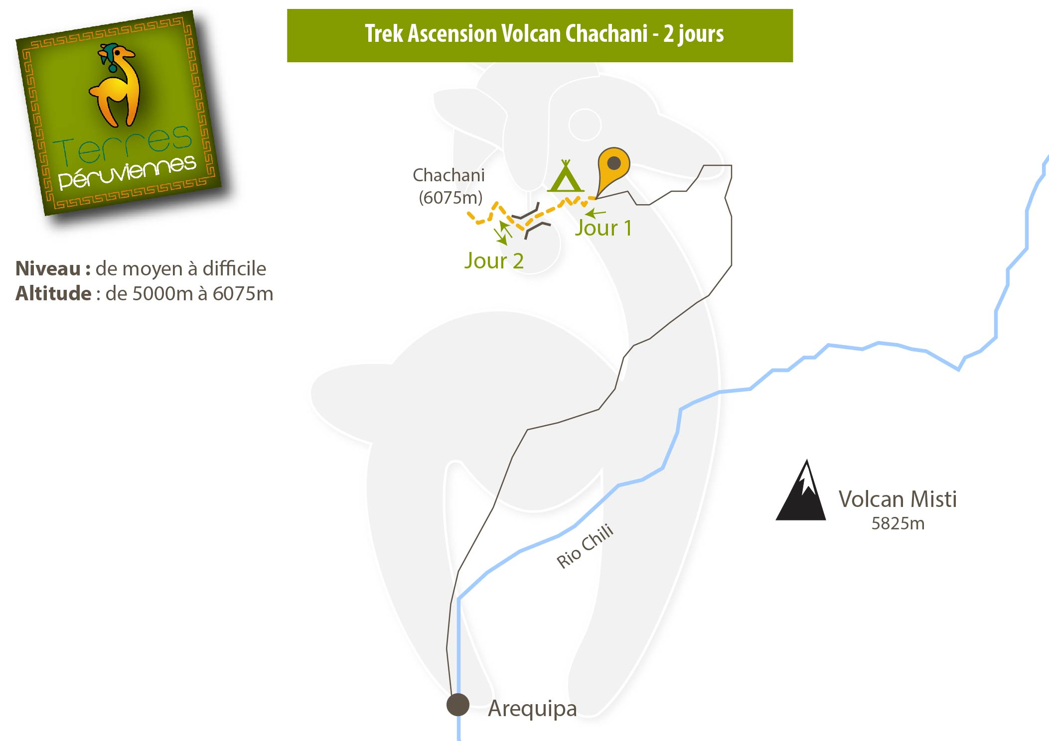 Trek ascension du volcan chachani en 2 jours arequipa - Jour de l ascension 2017 ...