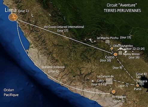 Voyage Aventures Andines, circuit Pérou