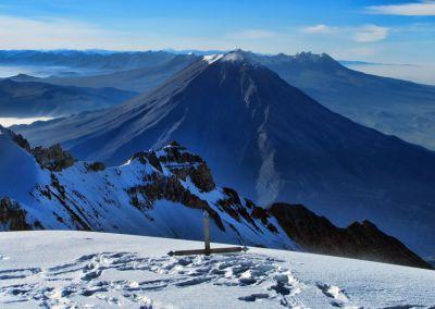 Sommet du volcan Chachani