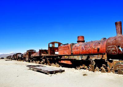 Cimetière de trains à Uyuni