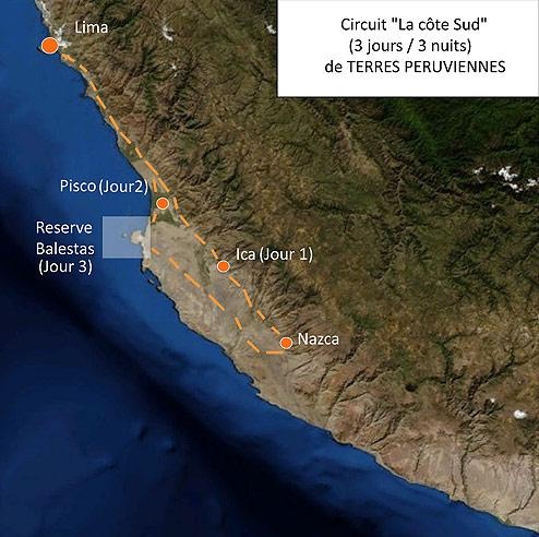 Circuit Pérou Nazca Paracas Iles Ballestas