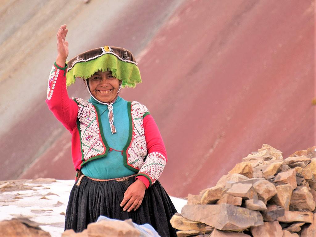 Péruvienne des communautés de Vinicunca