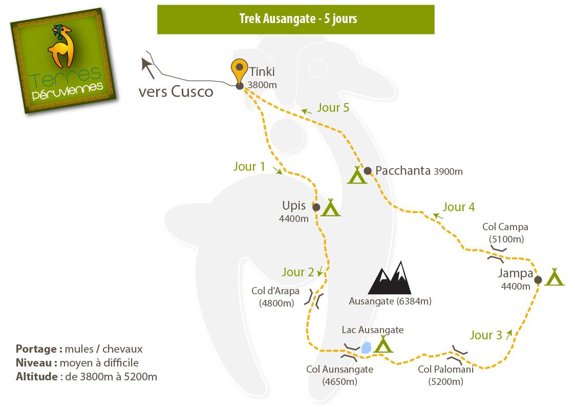 Carte trek Ausangate