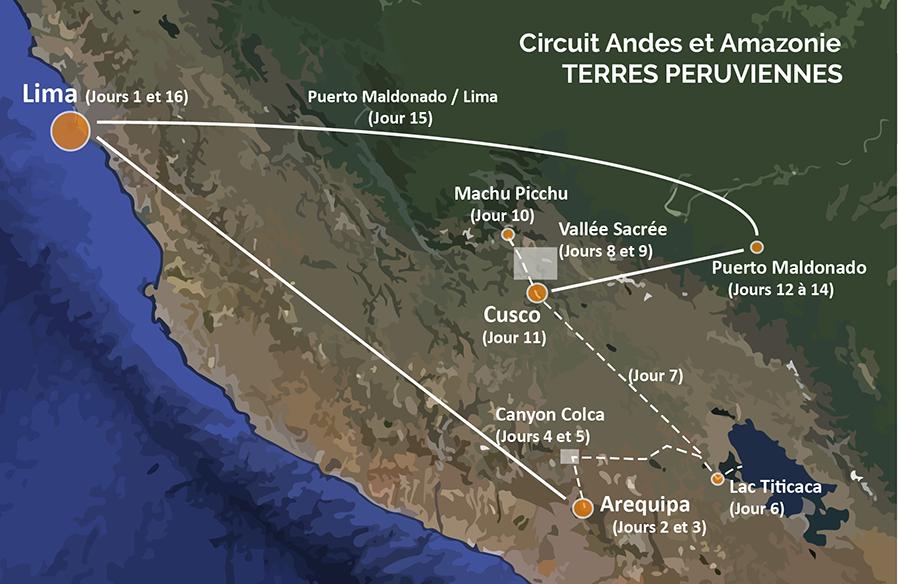 Circuit Pérou 16 jours Andes et Amazonie