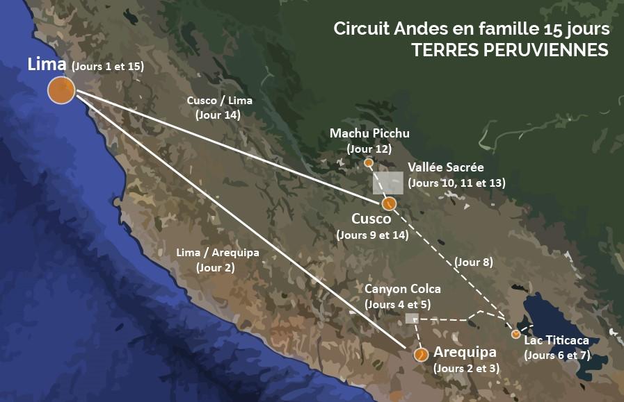 Circuit Pérou Andes en famille